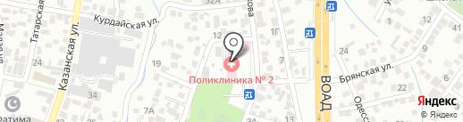 Городская поликлиника №2 на карте Алматы