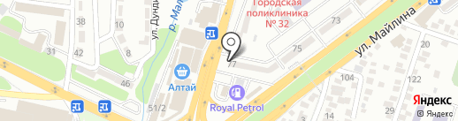 Нотариус Палманова Б.М. на карте Алматы