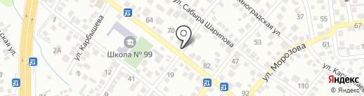 Сат на карте Алматы