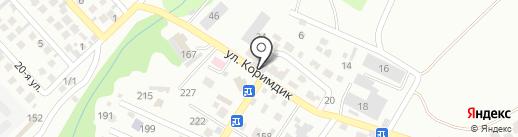 Тансык на карте Алматы