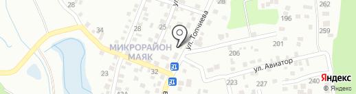 Азиза на карте Алматы