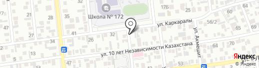 Агайындылар на карте Алматы