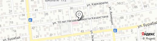 Азамат на карте Алматы