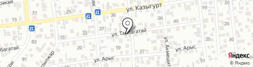 Алмас на карте Алматы