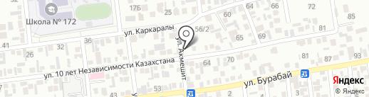 Жагатал, продуктовый магазин на карте Алматы