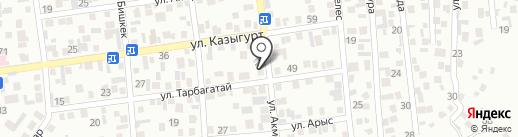 Нур, овощной магазин на карте Алматы