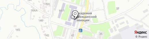 Академия гражданской авиации на карте Алматы