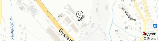 Командир на карте Алматы