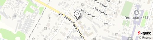 Участковый пункт полиции №1 Илийского района на карте Отегена Батыра