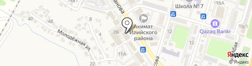 НСК на карте Отегена Батыра