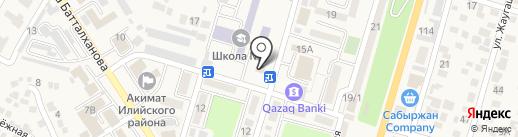Нур Отан на карте Отегена Батыра