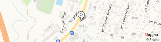 СТО на ул. Жансугурова на карте Отегена Батыра