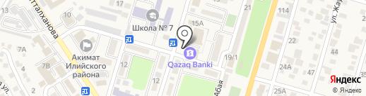 Qazaq Banki на карте Отегена Батыра
