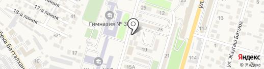 Асем на карте Отегена Батыра