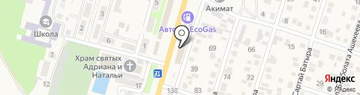 Олжа на карте Отегена Батыра