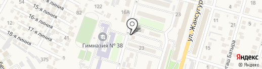 Ана тили на карте Отегена Батыра
