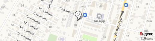 Максат на карте Отегена Батыра