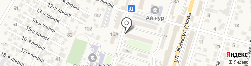Алихан на карте Отегена Батыра