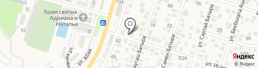 Айбол на карте Отегена Батыра