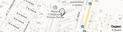 Центр по недвижимости по Алматинской области комитета регистрационной службы на карте Отегена Батыра