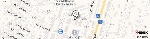 Департамент по борьбе с экономической и коррупционной преступностью по Алматинской области на карте Отегена Батыра