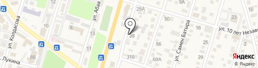 Придорожный на карте Отегена Батыра
