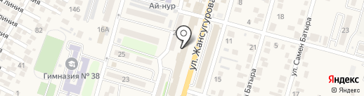 Биля на карте Отегена Батыра