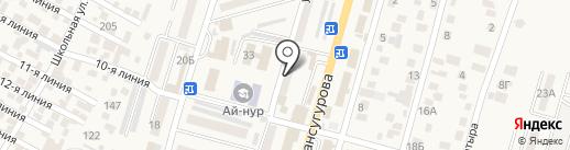 Банкомат, Народный Банк Казахстана на карте Отегена Батыра
