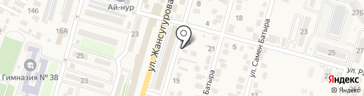 Нур Мырза на карте Отегена Батыра