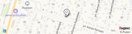 Жетибай на карте Отегена Батыра