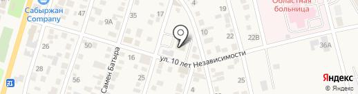 Правительство для граждан Илийского района Алматинской области на карте Отегена Батыра