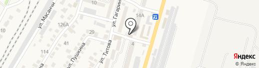 Давлет на карте Отегена Батыра