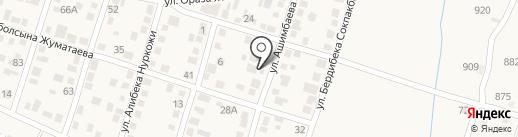 Алматы на карте Отегена Батыра