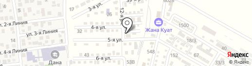 Береке, продуктовый магазин на карте Отегена Батыра
