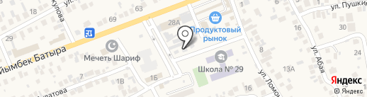 Почтовое отделение связи с. Бесагаш на карте Бесагаш