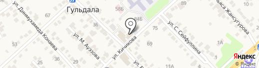 Платежный терминал, Kaspi bank на карте Гульдалы