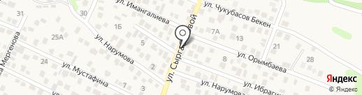 Агайын на карте Туздыбастау