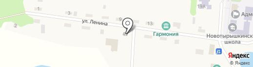 Продуктовый магазин на карте Новотырышкино