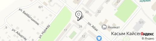 Талапкер на карте Касымы Кайсеновой