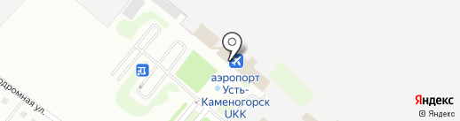 Эйр Астана на карте Усть-Каменогорска