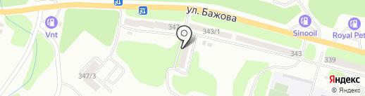 Участковый пункт полиции №16 на карте Усть-Каменогорска