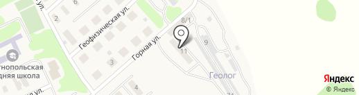 Горный на карте Опытного поля