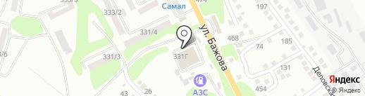 Аквамарин на карте Усть-Каменогорска