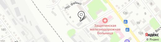 Защитинское отделенческое управление по защите прав потребителей на транспорте на карте Усть-Каменогорска