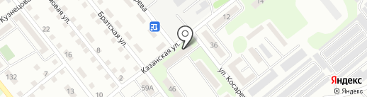 Защита, ПКСК на карте Усть-Каменогорска