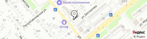 Акбаева К.Т. на карте Усть-Каменогорска