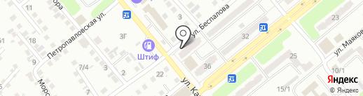 Магазин автозапчастей для ВАЗ на карте Усть-Каменогорска
