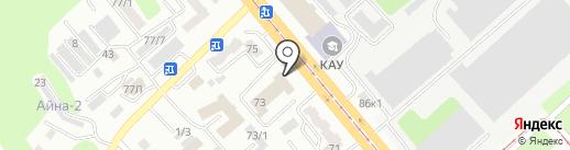 Пожарная часть №2 на карте Усть-Каменогорска