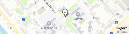 Апельсин на карте Усть-Каменогорска