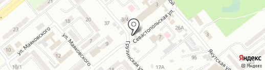 Магазин автотоваров на карте Усть-Каменогорска